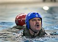 US Navy 041208-N-4385W-026 Sailors assigned to Explosive Ordnance Disposal Mobile Unit Eleven (EODMU-11), tread water during a water survival training exercise.jpg
