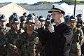 US Navy 050118-N-4388F-001 Commander, U.S. Naval Forces Europe, Adm. Michael Mullen, speaks to Seabees, assigned to Naval Mobile Construction Battalion Four (NMCI-4), on board Camp Mitchell, Rota, Spain.jpg