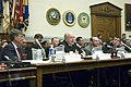 US Navy 050719-N-2383B-120 Adm. Vern Clark, center, answers questions from members of the Projection Forces Subcommittee during testimony on the Navy's Fiscal Year 2006 Plans and Programs for the DD(X) Next-Generation Multi-Mis.jpg