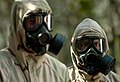 US Navy 061031-N-9769P-413 Students in the chemical, biological and radiological phase of training at the Naval Explosive Ordnance Disposal School don full protective gear and are taught to maneuver around hazardous material wi.jpg