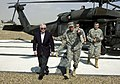 US Navy 070419-M-0948M-001 Secretary of Defense (SECDEF), the Honorable Dr. Robert M. Gates arrives at Camp Fallujah to receive a brief on the operational situations in the Al Anbar Province.jpg