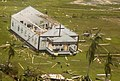 US Navy 070907-N-1189B-170 church severely damaged by Hurricane Felix is seen from a helicopter belonging to amphibious assault ship USS Wasp (LHD 1).jpg