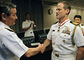 US Navy 080702-N-7090S-001 Capt. Tilghman D. Payne, right, is awarded the Order of the Rising Sun from Adm. Keiji Akahoshi, Japan Chief of Maritime Self-Defense Forces.jpg