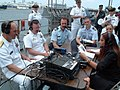 US Navy 090429-N-2199T-002 Rear Adm. John N. Christenson, left, commander, Carrier Strike Group 12, and other participants of Fleet Week Port Everglades 2009 speak with local South Florida radio talk show host Joyce Kaufman.jpg