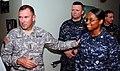 US Navy 100308-N-8366W-065 Lt. Gen. Ken Keen, commanding general of Joint Task Force Haiti, thanks Sailors aboard the Military Sealift Command hospital ship USNS Comfort (T-AH 20).jpg