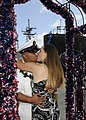 US Navy 110531-N-UK333-167 Chief Electronics Technician Daniel Villarreal is greeted by his wife as he is the first to disembark the Los Angeles-cl.jpg