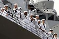 US Navy 111024-N-ZC343-663 Sailors aboard the guided-missile destroyer USS Spruance (DDG 111) are greeted by family and friends at Naval Base San D.jpg