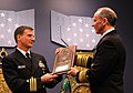 US Navy 120105-N-MM501-021 Chief of Naval Operations (CNO) Adm. Jonathan Greenert, right, presents Cmdr. Robert B. Chadwick II with the Vice Admira.jpg