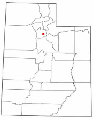 Mount Olympus, Utah - Image: UT Map doton Mount Olympus