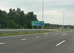 U turn A2 Lithuania
