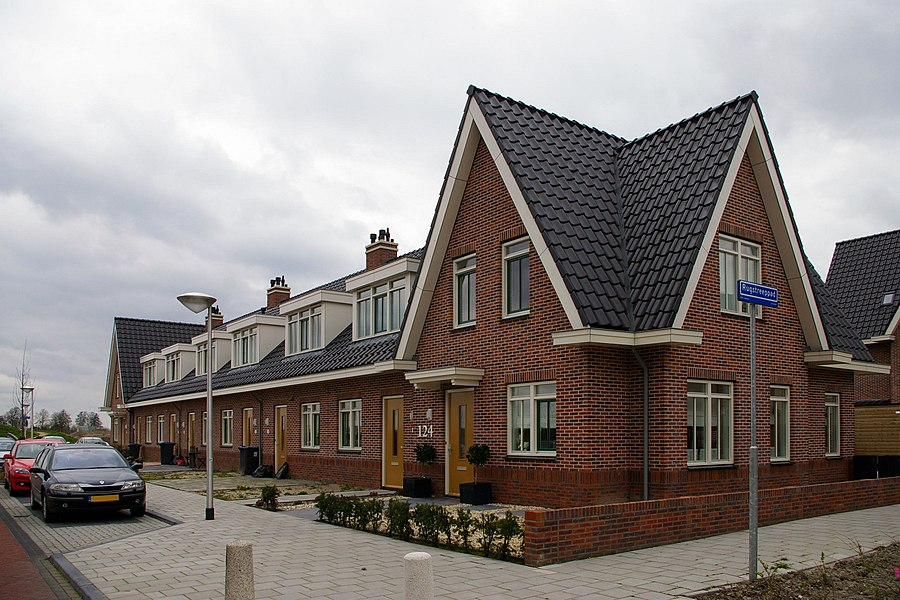 Retro-style architecture in Uithoorn, built a few years ago in the style of Dutch public housing of about 1920-1930