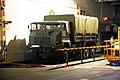 Un camión Pegaso 7323 de la Infantería de Marina en el ascensor de vehículos (35062904296).jpg