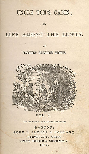 Edition (book) - Title-page illustration by Hammatt Billings for Uncle Tom's Cabin, First Edition: Boston: John P. Jewett and Company, 1852