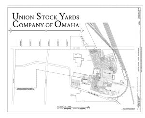 Union Stockyards (Omaha) - Site plan, 1999
