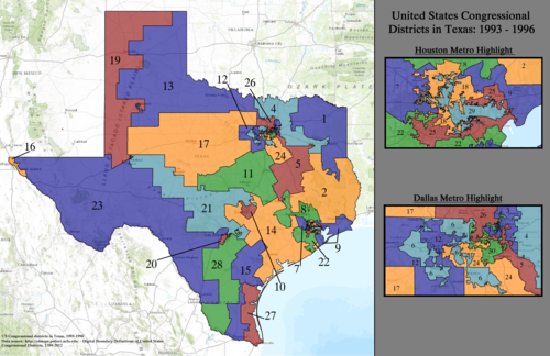 United States Congressional Districts in Texas, 1993–1996.tif