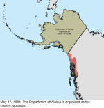 Map of the change to the United States in northwest North America on May 17, 1884