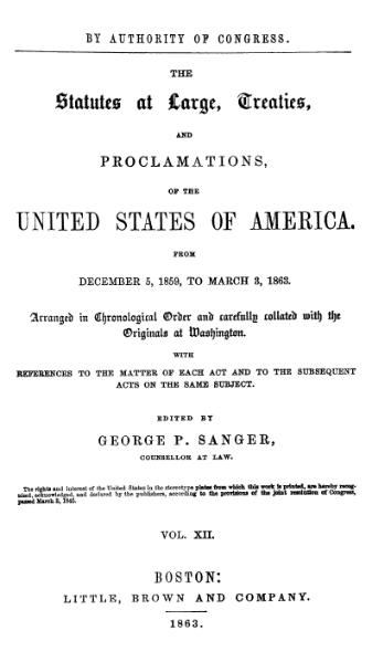 File:United States Statutes at Large Volume 12.djvu