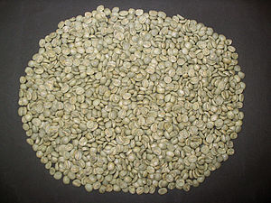 Coffee (color) - Coffee beans before roasting