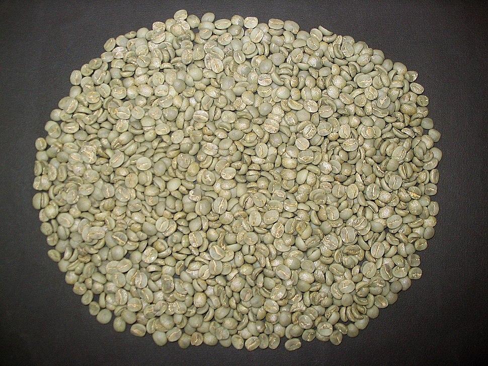 Unroasted coffee