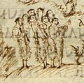 Utrechts-Psalter PSALM-96-PSALM-97 trumpets and cornet.jpg