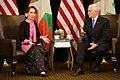 VP Mike Pence and Aung San Suu Kyi at 33rd ASEAN Summit (4).jpg