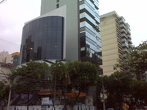 English: Commercial Building with an air condi...