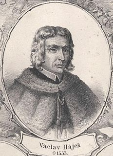 Wenceslaus Hajek Czech humanistic chronicler, writer and roman catholic priest