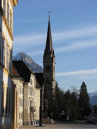 Vaduz Cathedral - Image: Vaduz Kathedrale St. Florin 01