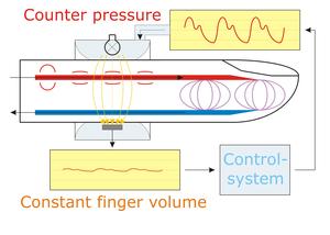 Continuous noninvasive arterial pressure - Principle of the Vascular Unloading Technique