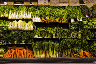 Daniel Fast - Vegetables in a supermarket in the United States