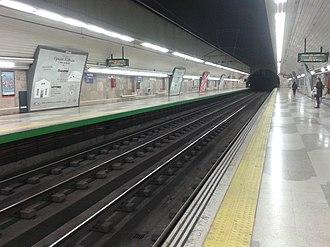 Ventilla (Madrid Metro) - Image: Ventilla Metro Madrid
