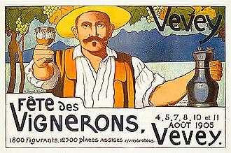 Vevey - Poster for the Fête des Vignerons from 1905