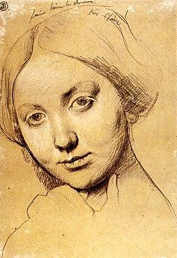 """Portrait of Comtesse d'Haussonville"" by Ingres"