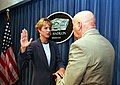 Victoria Clarke is sworn in as assistant secretary of defense for public affairs in the Pentagon.jpg