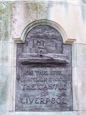 Liverpool Castle - Plaque on Victoria Monument