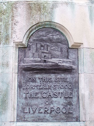 Liverpool Castle - Plaque on Victoria Monument