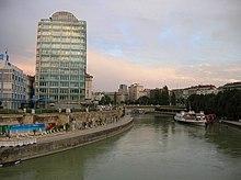 Il braccio del Danubio chiamato Donaukanal.