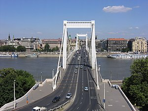 Elisabeth Bridge (Budapest) - The bridge from above