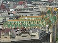 View from Saint Stephen's Basilica to roofs, Postal Savings Bank and Hungarian National Bank, BudapestDSCN3461.jpg