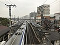 View from footbridge on south side of Mozu Station (north).jpg