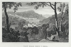 Pontypool - View of Pontypool, 1830