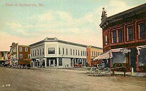 Springvale, Maine - View of Springvale in 1911