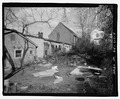 View of rear yard of house, looking northeast. - Mary Cecil Canrtill No. 5 House, 216 Oregon Street, Georgetown, Scott County, KY HABS KY-217-4.tif
