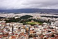 View of the Temple of Zeus in Athens and the Panathenaic Stadium from the Acropolis.jpg