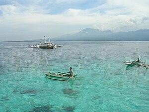 Blick auf die Tanon-Straße von der Insel Cebu