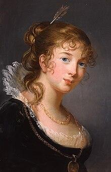 Prinzessin Friederike Luise Dorothea Philippine von Preußen, Pastell von Élisabeth Vigée-Lebrun, 1801 (Quelle: Wikimedia)