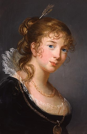 Princess Louise of Prussia (1770–1836) - A painting of Louise of Prussia, c. 1801. Painted by Elisabeth Vigée-Lebrun.