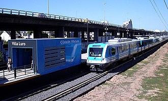 Sarmiento Line - Image: Villa Luro Estación Acceso Víctor Hugo 1
