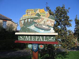 Mepal - Image: Village Sign Detail Mepal Cambs(Rodney Burton)Aug 2006