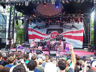 Columbia, Maryland - The National playing at Virgin Mobile Freefest at Merriweather Post Pavilion